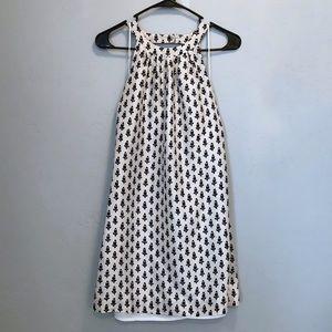J Crew 100% Silk Open Back Sleeveless Dress
